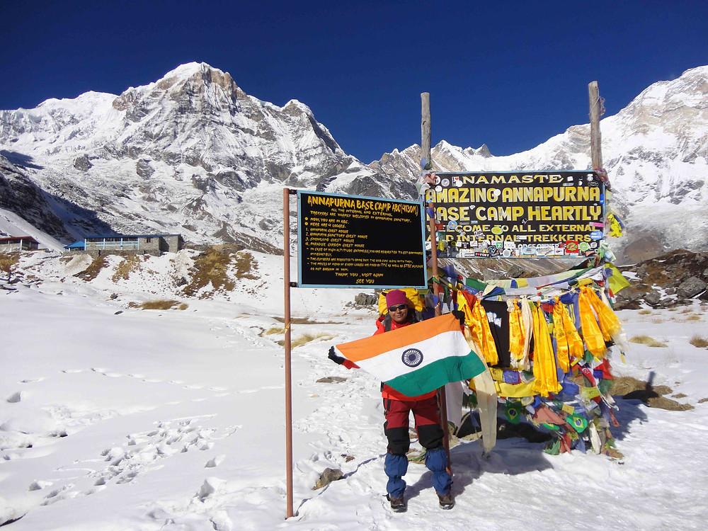 Toolika On Mt. Annapurna Base Camp, Nepal, January 2015. Pic Credit: Toolika Rani