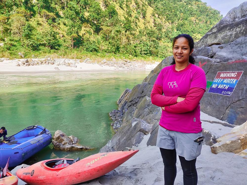 Sunita Chauhan with Inspire Crew