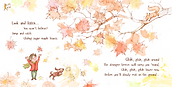 Autumn Song interactive book page 2