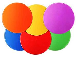 Colorful Spot Markers 12pcs Floor Spots