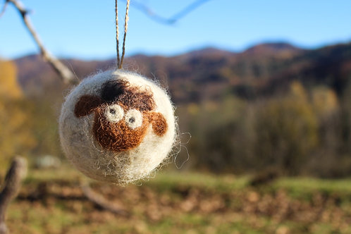 Globuri din lână: oițe