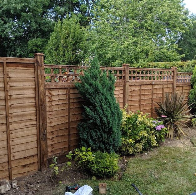 Lap panels with trellis on top in Binfield.