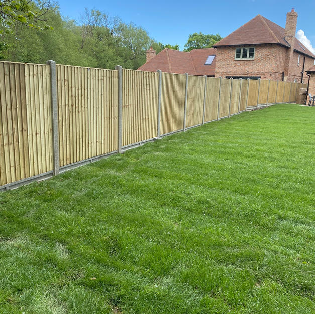 Featheredge panels for a development in Windsor.