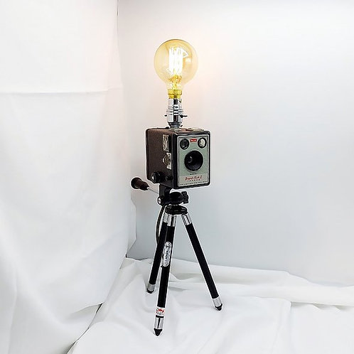 Upcycled Camera Lamp - Kodak Brownie Flash II