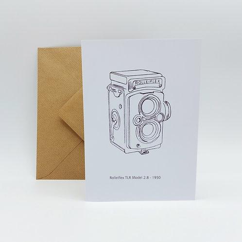 Original artwork card - Rollieflex TLR