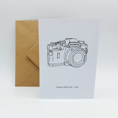 Original artwork card - Olympus OM10