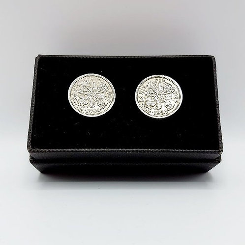 1954 Upcycled Vintage Coin Cufflinks