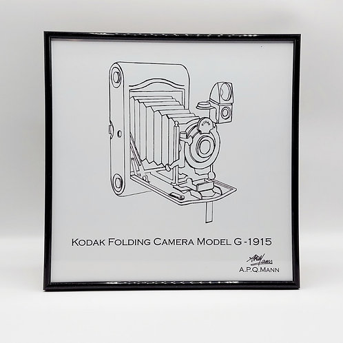 Framed Original Art Print - Folding Camera