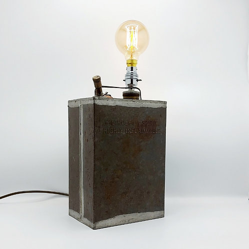 Vintage Petroleum Spirit Can Lamp