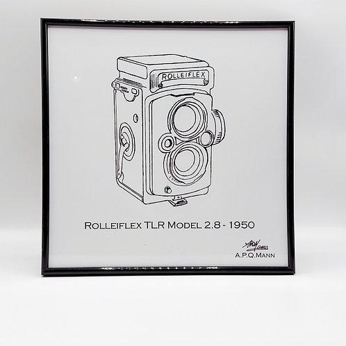 Framed Original Art Print – Rolleiflex Model 2.8