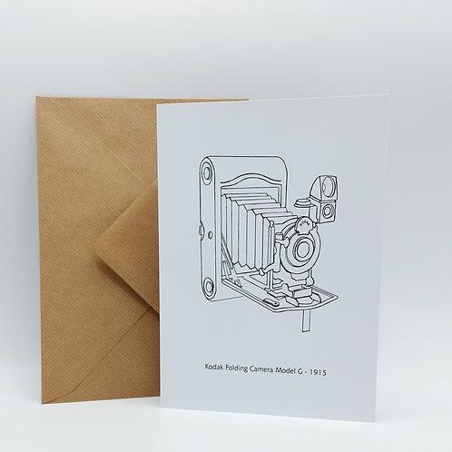 Original artwork card - Kodak folding camera