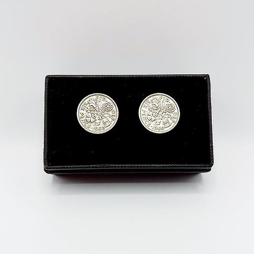 1960 Upcycled Vintage Coin Cufflinks