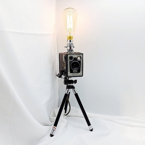Upcycled Camera Lamp - Kodak Brownie Six-20 D