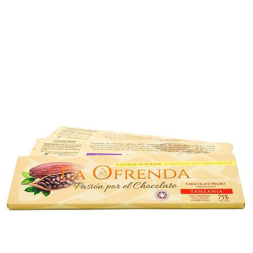 Chocolate de Tanzania. Origen (100 g)