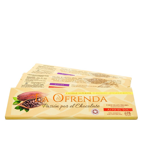 Chocolate de alto del sol. Origen (100 g)