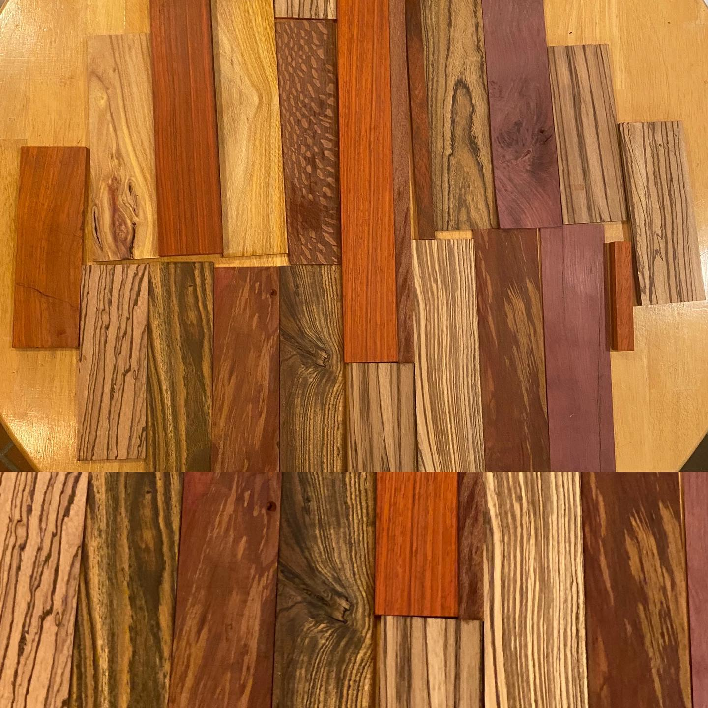 exotic wood cutoffs from Woodcraft