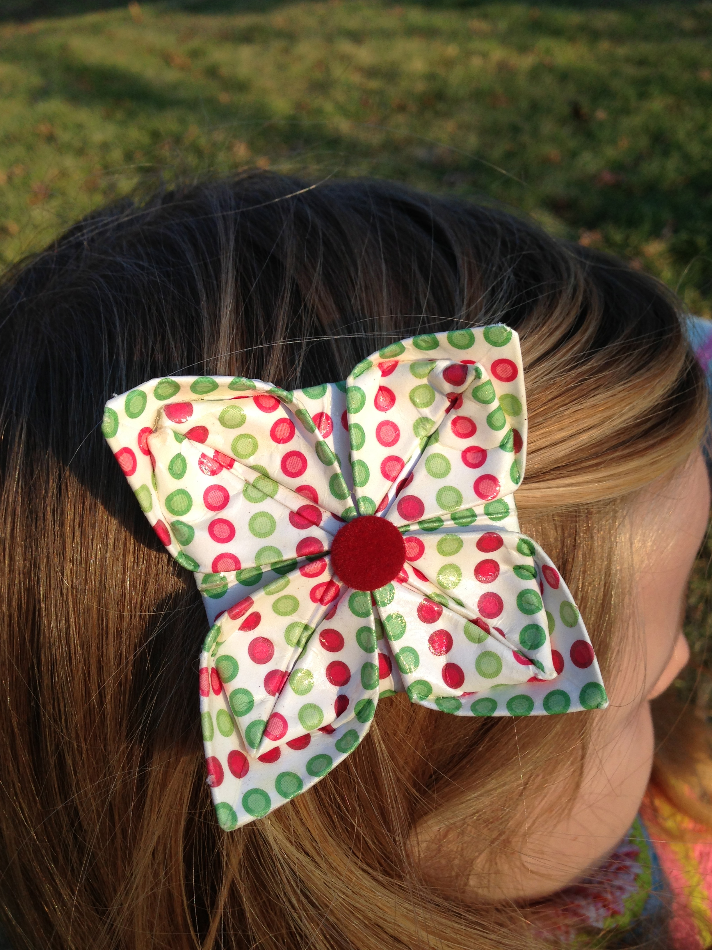 origami hair clip