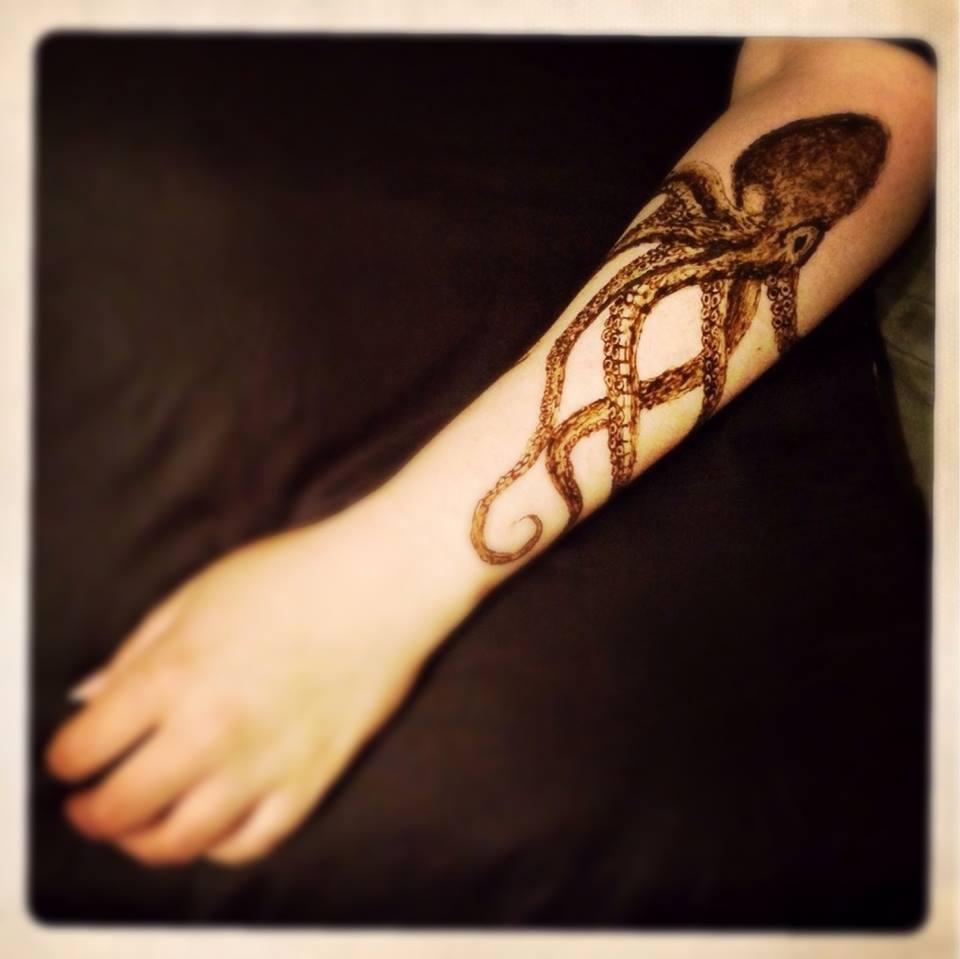 octopus henna