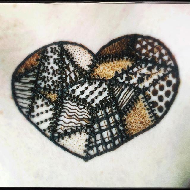 patchwork heart henna