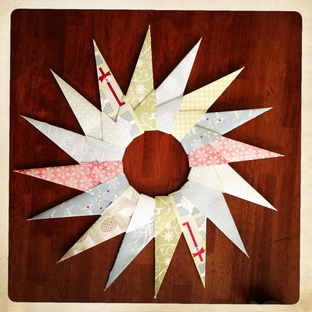 large origami wreath