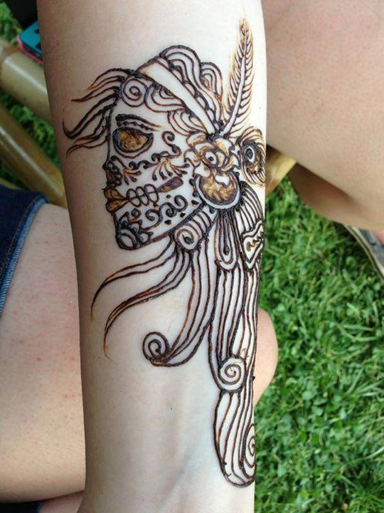 sugar skull henna