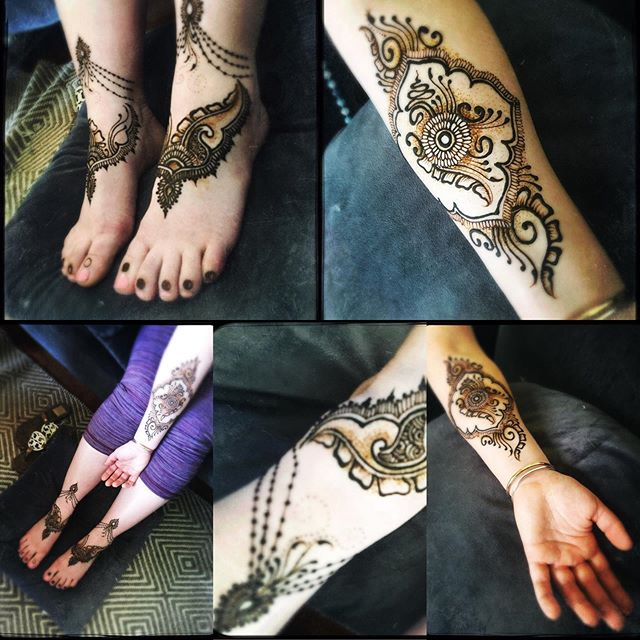 Beautiful henna I got to do on _thebliss