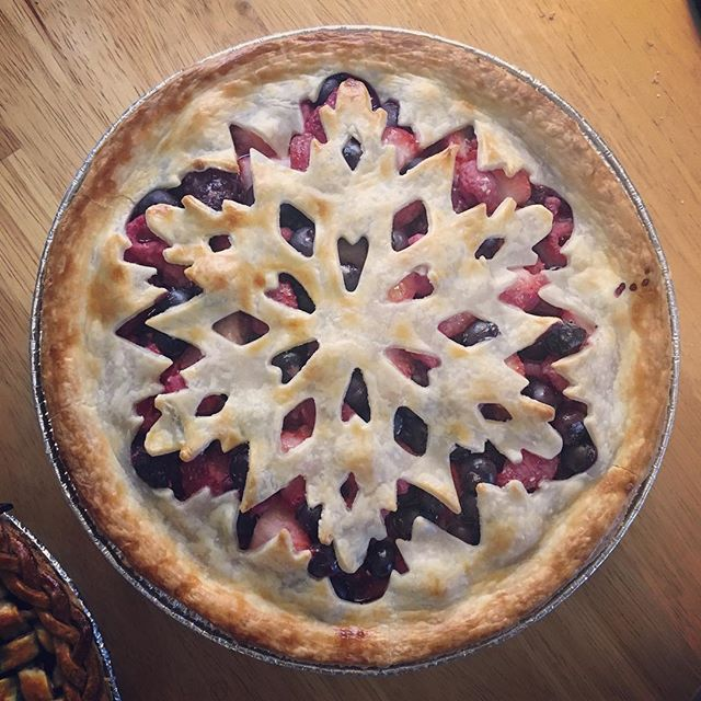 quadruple berry pie