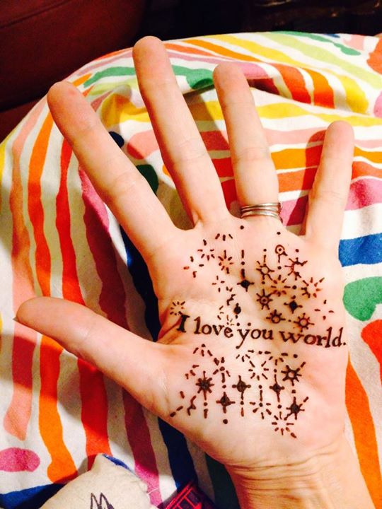 Love Letter to the World in henna