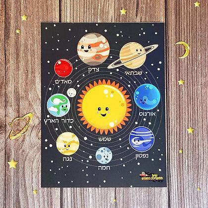 פוסטר של מערכת השמש