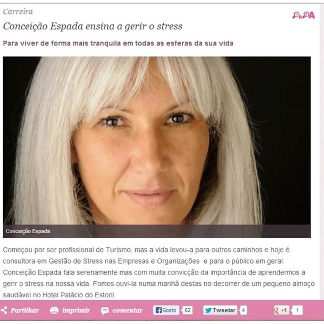 Conceição Espada Ensina a Gerir o Stress