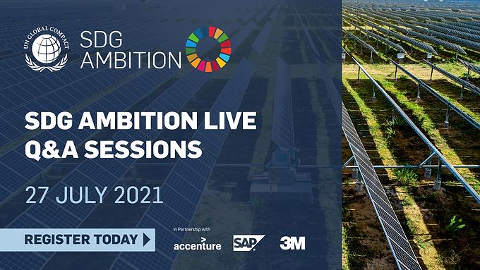 SDG Ambition Live Q&A Session