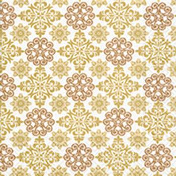 Papierservietten Ornament gold/kupfer