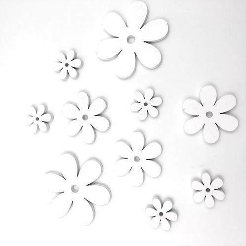 Blüten weiss zum Streuen und Basteln (Beutel mit 10 Stück)