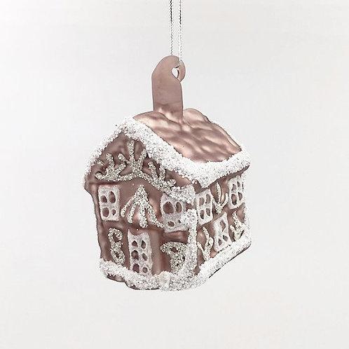 Weihnachtskugel Haus