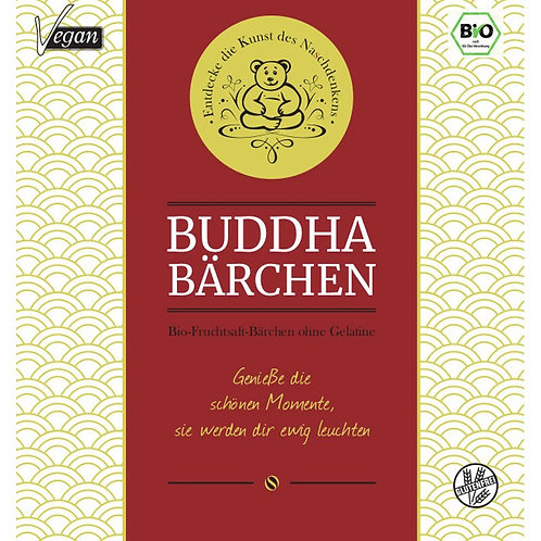 Buddha-Bärchen rot 75gr - Geniesse die schönen Momente...
