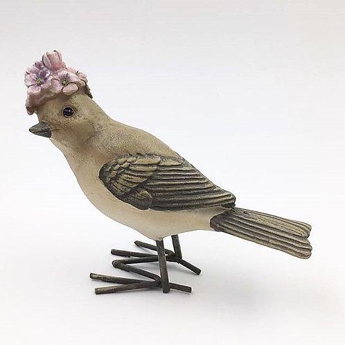 Vogel Frau mit Blütenhaube rosa