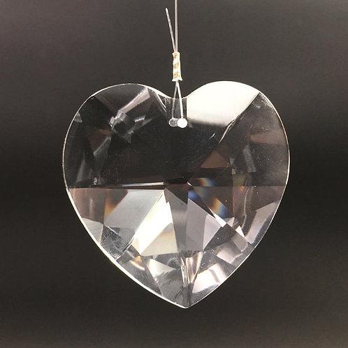 Kristall Herz 50 mm