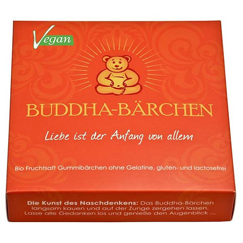 Buddha-Bärchen Geschenkbox orange 75gr - Liebe
