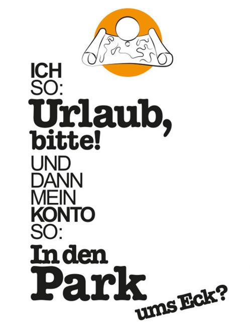 Postkarte Park
