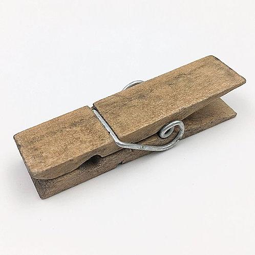 Klammer Holz natur 10 cm