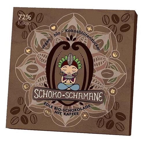 Schoko-Schamane 50g VEGAN - Kaffee (72% Kakao)