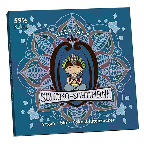 Schoko-Schamane 50g VEGAN - Meersalz (59% Kakao)