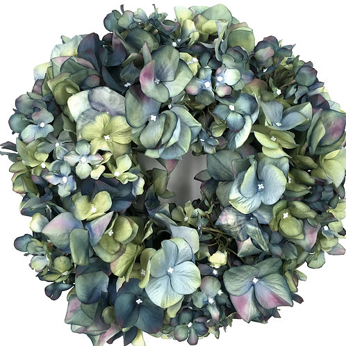 Hortensien Kranz blaugrün (D30)
