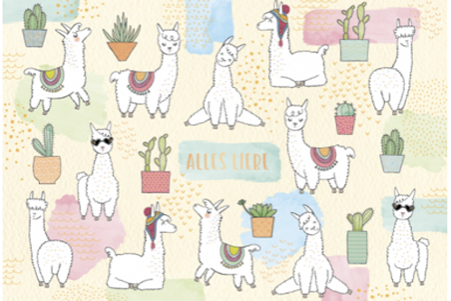 Postkarte 12x17cm - Alles Liebe