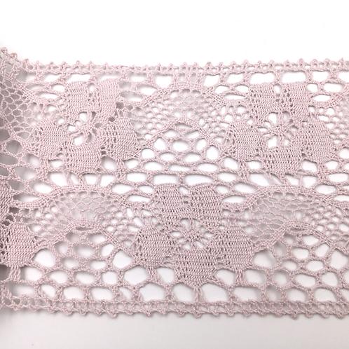 Tischläufer gehäkelt rosa 15 x 180 cm