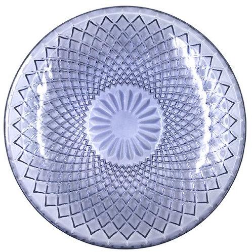 Glasteller / Schale mit Rauten 25cm