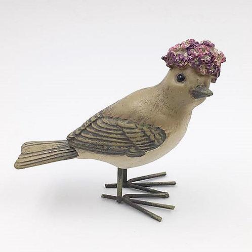 Vogel Frau mit Blütenhaube gemischt