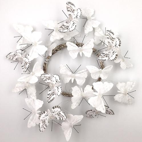 Schmetterling Papier/Metall/Federn