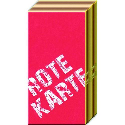 Taschentücher Rote Karte / Gelbe Karte