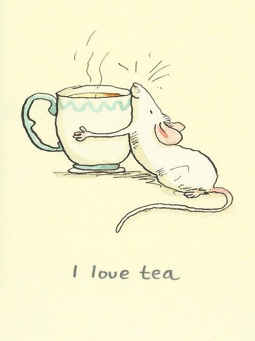 Karte - I love Tea